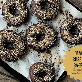 Black Russian Bagels {Pumpernickel Everything Bagels} + GIVEAWAY