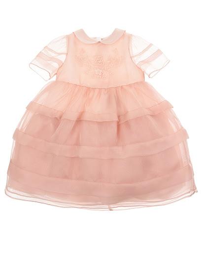 Розовое платье с с вышивкой детское Fendi BFB298 A6IW F19J0 купить
