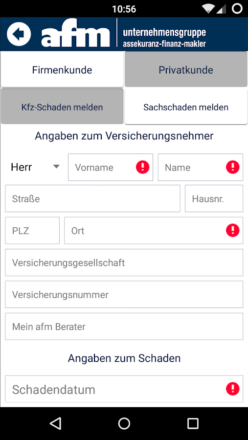 afm Gruppe – Screenshot