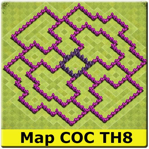 Maps COC TH8 2017