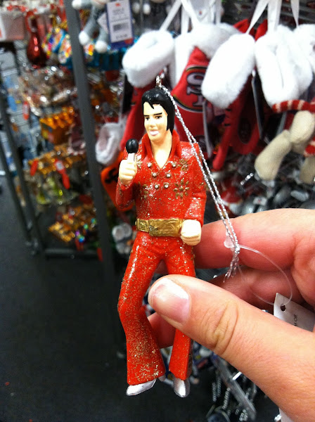 Photo: An Elvis ornament for my husband.