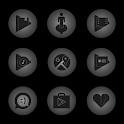 Radial Glow Gray Icons icon