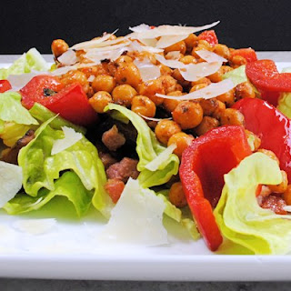 Chickpeas And Bacon Salad.