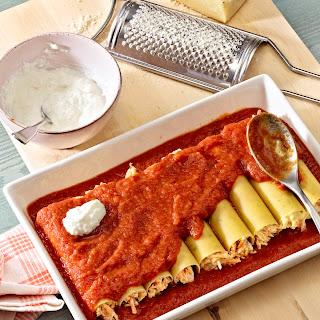 Cannelloni mit Möhren-Quark-Füllung