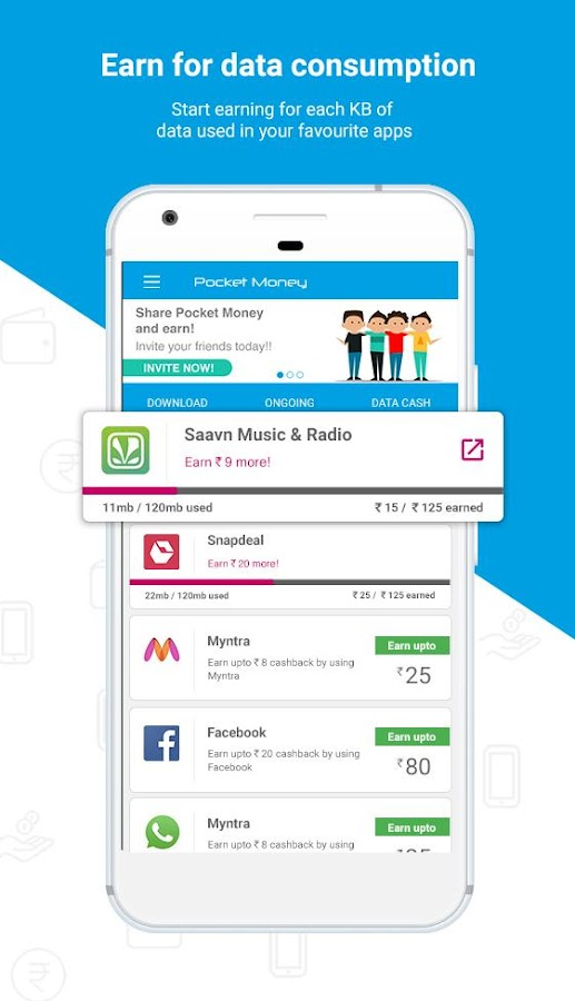 Pocket Money:  Free Mobile Recharge & Wallet Cash- screenshot