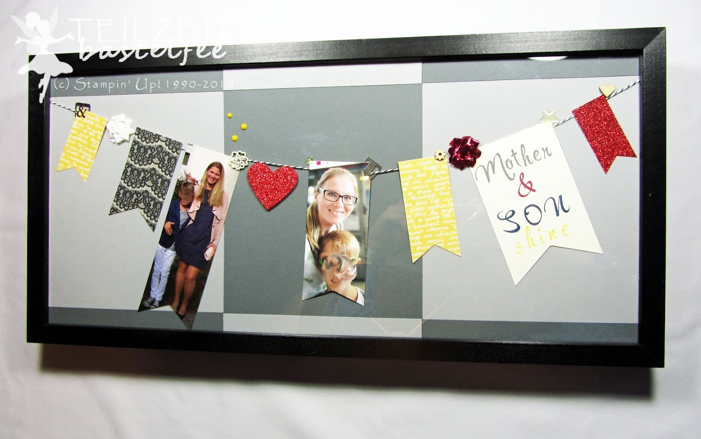 Stampin' Up! - Inkspire_me, Bilderrahmen, Banners, photo frame, mother and son