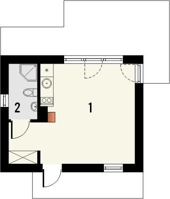 Domek 2 - Rzut parteru