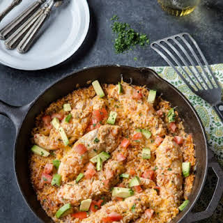 Cast Iron Santa Fe Chicken with Rice.