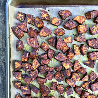 Cocoa Roasted Sweet Potatoes.