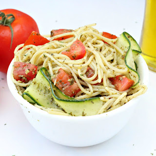 Broccoli Pesto Pasta with Zucchini