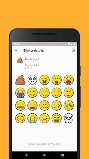 Emoticons Sticker Pack for WhatsApp 0.2.10 screenshots 4