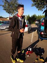 Photo: Alain qui n'a apparemment pas roulé depuis un moment, habitué du Ventoux qu'il termine en principe 1er ou 2ème.
