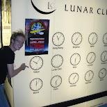 lunar club clocks in Osaka, Osaka, Japan