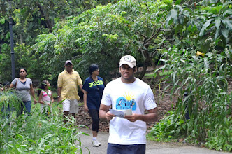 Photo: Our ex-student Vignesh and his parents also joined the walk.