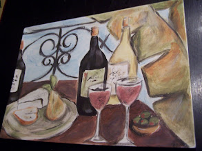 Photo: Wine and Cheese Painted Platter