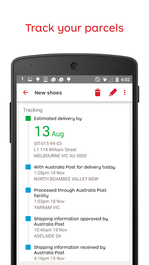 Australia Post - screenshot