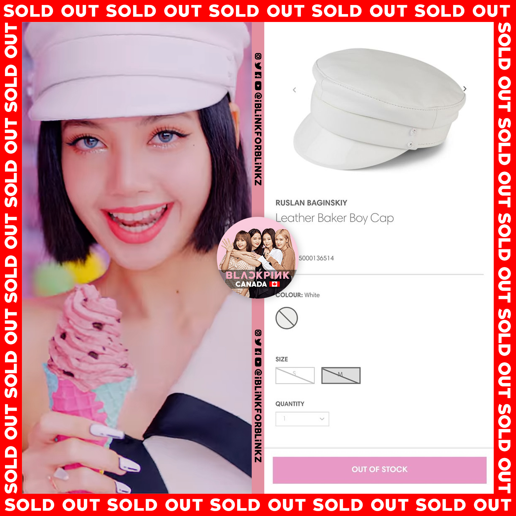 blackpink lisa sold out ice cream 3