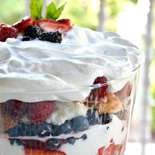 Berries and Cream Angel Food Cake Trifle