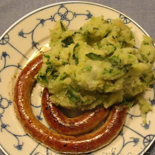 Green Cabbage Stoemp With Sausages