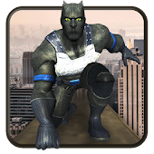 Flying Superhero Panther Assault Rescue Mission 3D