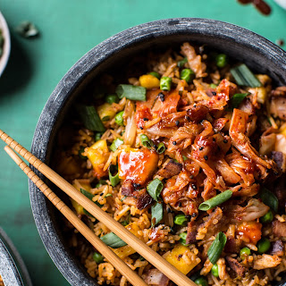 Kimchi Chicken and Bacon Fried Rice.
