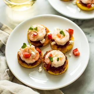 Cheesy Shrimp Polenta Bites
