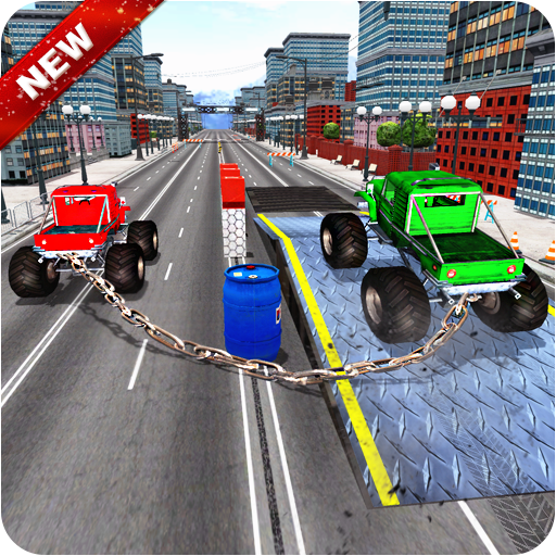 Chained Monster Truck Impossible Tracks Racing 3D (game)