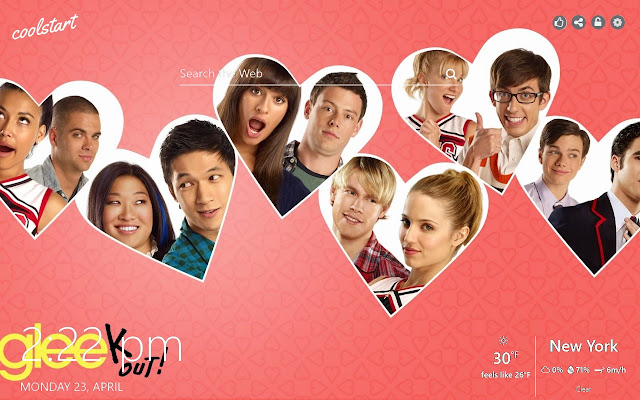 Glee HD Wallpapers TV Series New Tab Theme