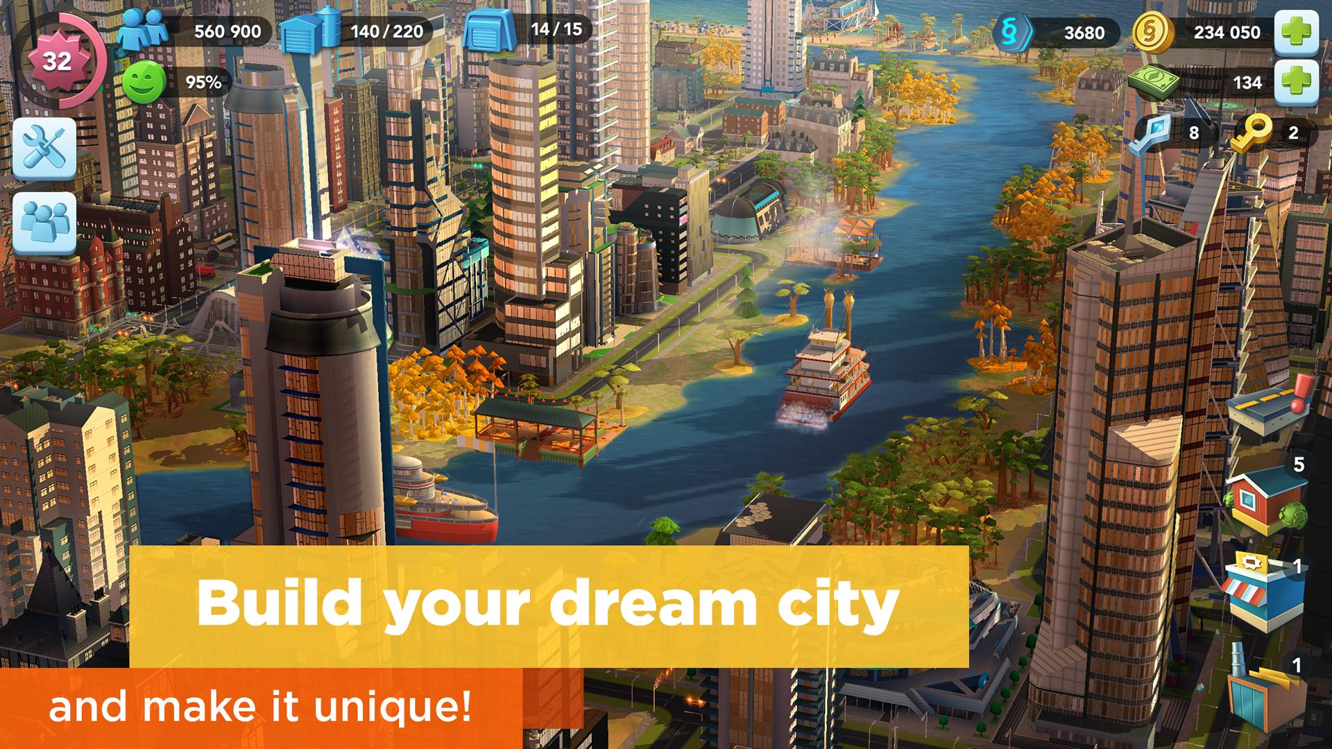 Simcity Buildit Mod Apk (Unlimited Money/Coins/Keys) Latest Version 1