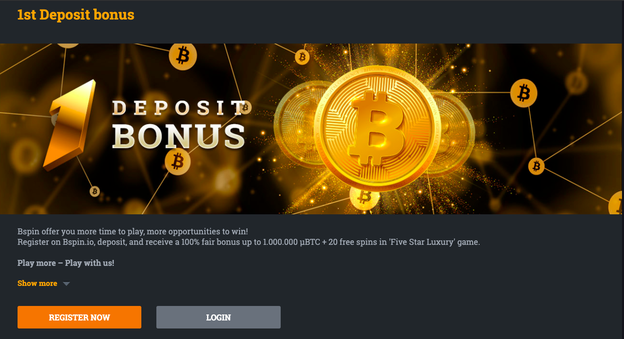 Bspin has some of the best deposit bonus!