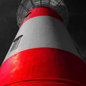 Lighthouse by Aram Becker - Buildings & Architecture Other Exteriors ( tower, red, b&w, selective color, lighthouse, high )