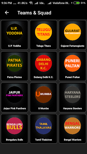kabaddi schedule 2019 (points table and squad) screenshot 2