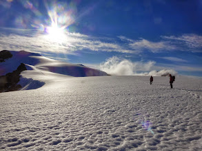 Photo: sur le sommet avec trace