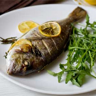 Baked Whole Sea Bream with Rosemary and Parsley
