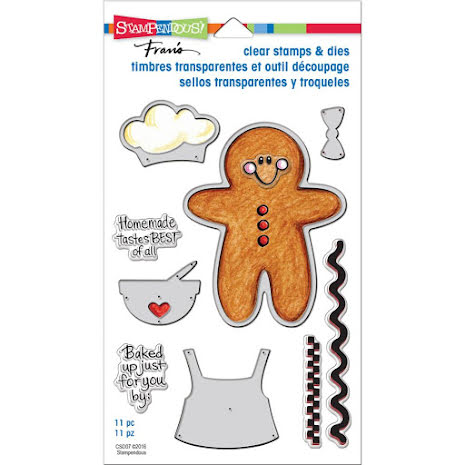 Stampendous Cling Stamps & Stencils 5X7 - Gingerbread Baker UTGÅENDE