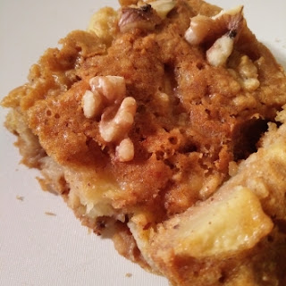 Spiced Apple Honey And Walnut Cake.