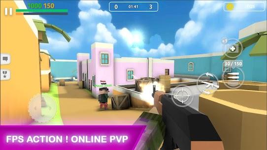 Block Gun MOD APK V2.2 (GODMODE/UNLIMITED AMMO,COINS,GOLD/INSTANT KILL/SUPER SPEED) 3
