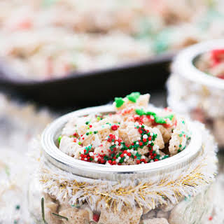 Christmas Sugar Cookie Chex Party Mix.