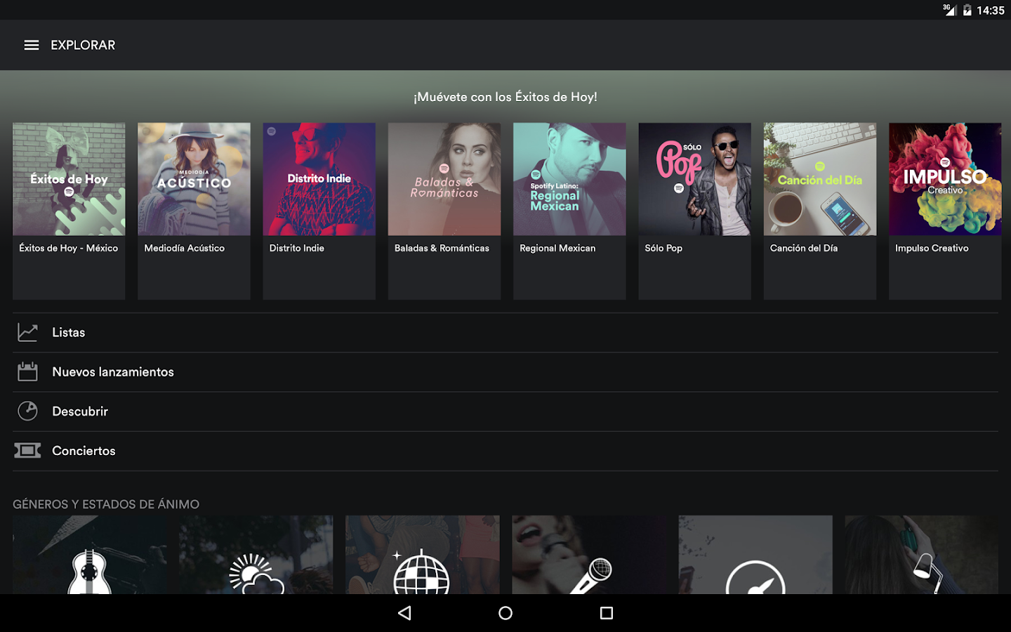 Spotify Music: captura de pantalla