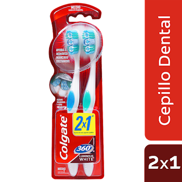 OFERTA CEPILLO DENTAL   COLGATE 360 LUMINOUS WHITE 2X1 MEDIO X2UND
