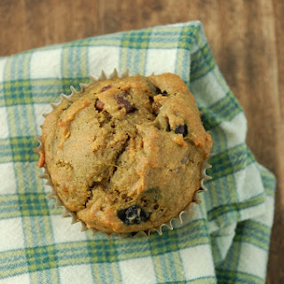 Sweet Potato Blueberry Muffins