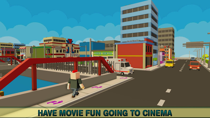 Download Virtual Life In A Simple Blocky Town Cheat APK MOD