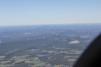 Photo: Hills in coal country Pennsylvania, with wind turbines
