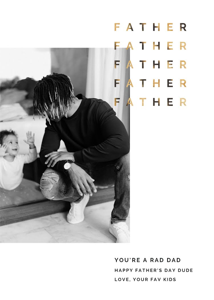You're a Rad Dad - Father's Day Card Template