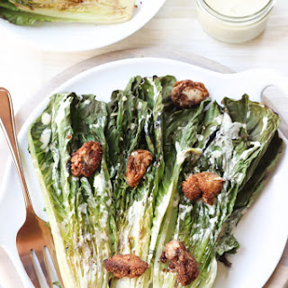 Grilled Caesar Salad with Oyster Croutons.