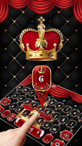 Screenshot for Luxury Red Crown Keyboard Theme in United States Play Store