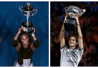 Serena Williams en Roger Federer blijven op koers voor zoveelste eindzege op Australian Open