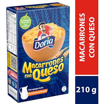 Pasta DORIA Macarrones   con Queso x210g
