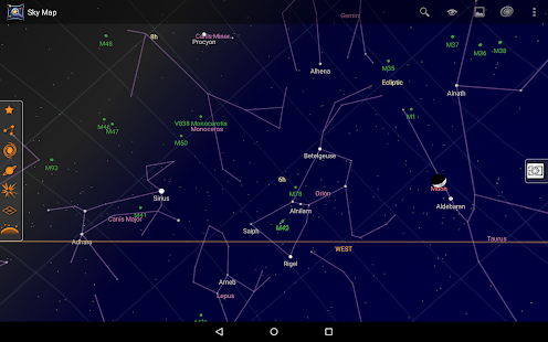 Sky Map – Vignette de la capture d'écran