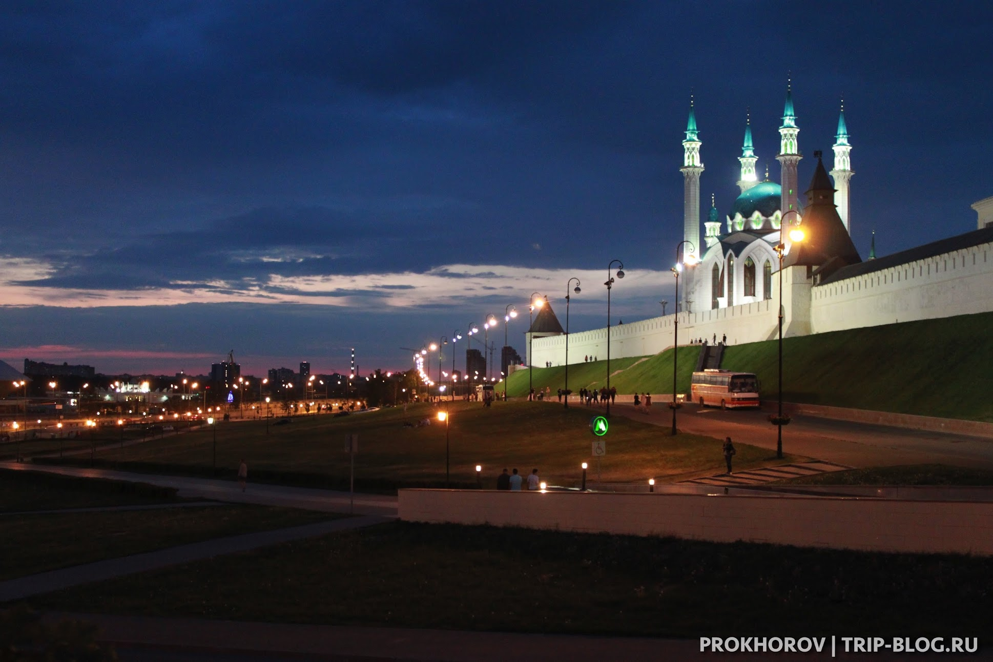 Казанский Кремль вечером